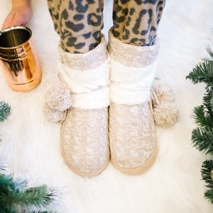 FINAL SALE❗️Cozy Cable Knit Slippers